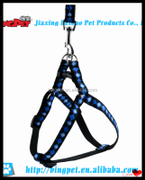 wholesale dog products skull and squares printed nylon pet Harness and leash set