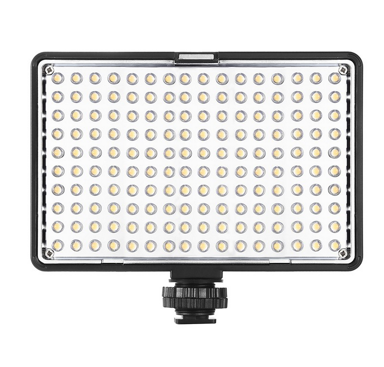 Professional ITB-120 LED Light for Hot Shoe Mount Video Camera/Camcorder with Built-in Rechargeable Battery , CR