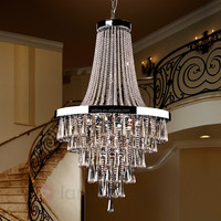 Antique European Chandelier Crystals Modern Pendant Lamp Lighting