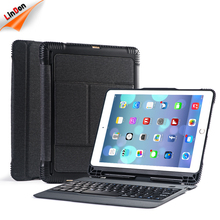 Bluetooth Keyboard Portable Wireless Keyboard with Stylus Holder Detachable Quiet Keyboard Silicone Case for iPad 9.7 inch 2017