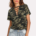 Custom Wholesale New Design Military camo Printing t shirts For Women