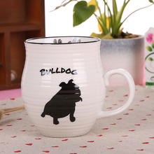 2016 new design ceramic dog coffee mug wholesale