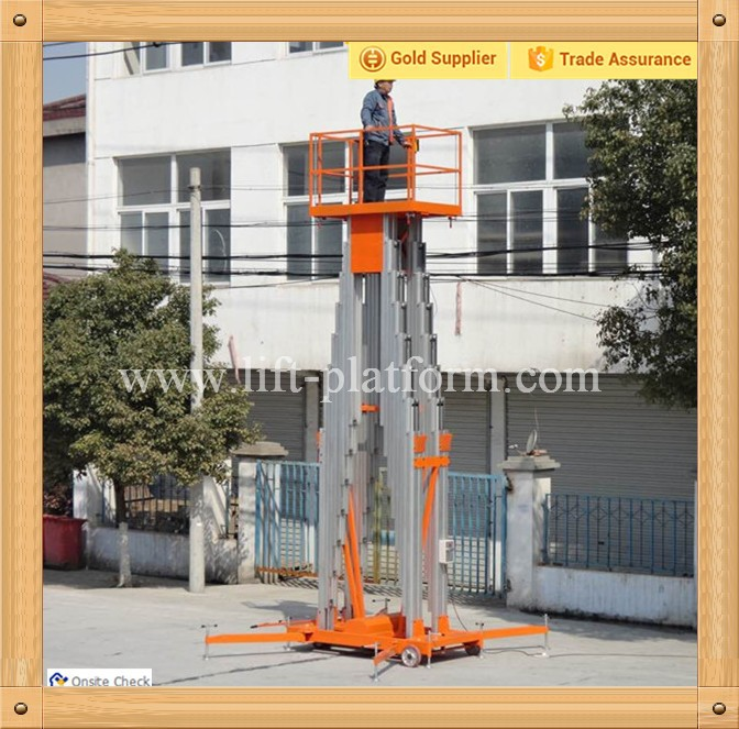 Compact design two persons four mast elevated work platform