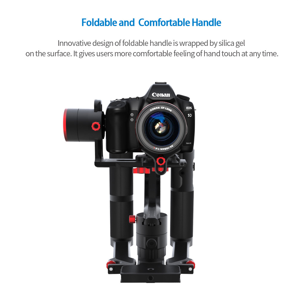 2018 FeiyuTech 3 axis handle gimbal A2000 gimbal for DSLR Cameras Gimbal with IOS/Android Setting APP, Bluetooth