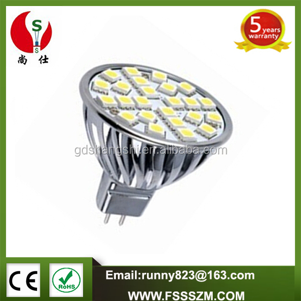 China supplier wind shape 24PCS SMD5050 4W MR16 LED Lamp bulb with CE ROHS
