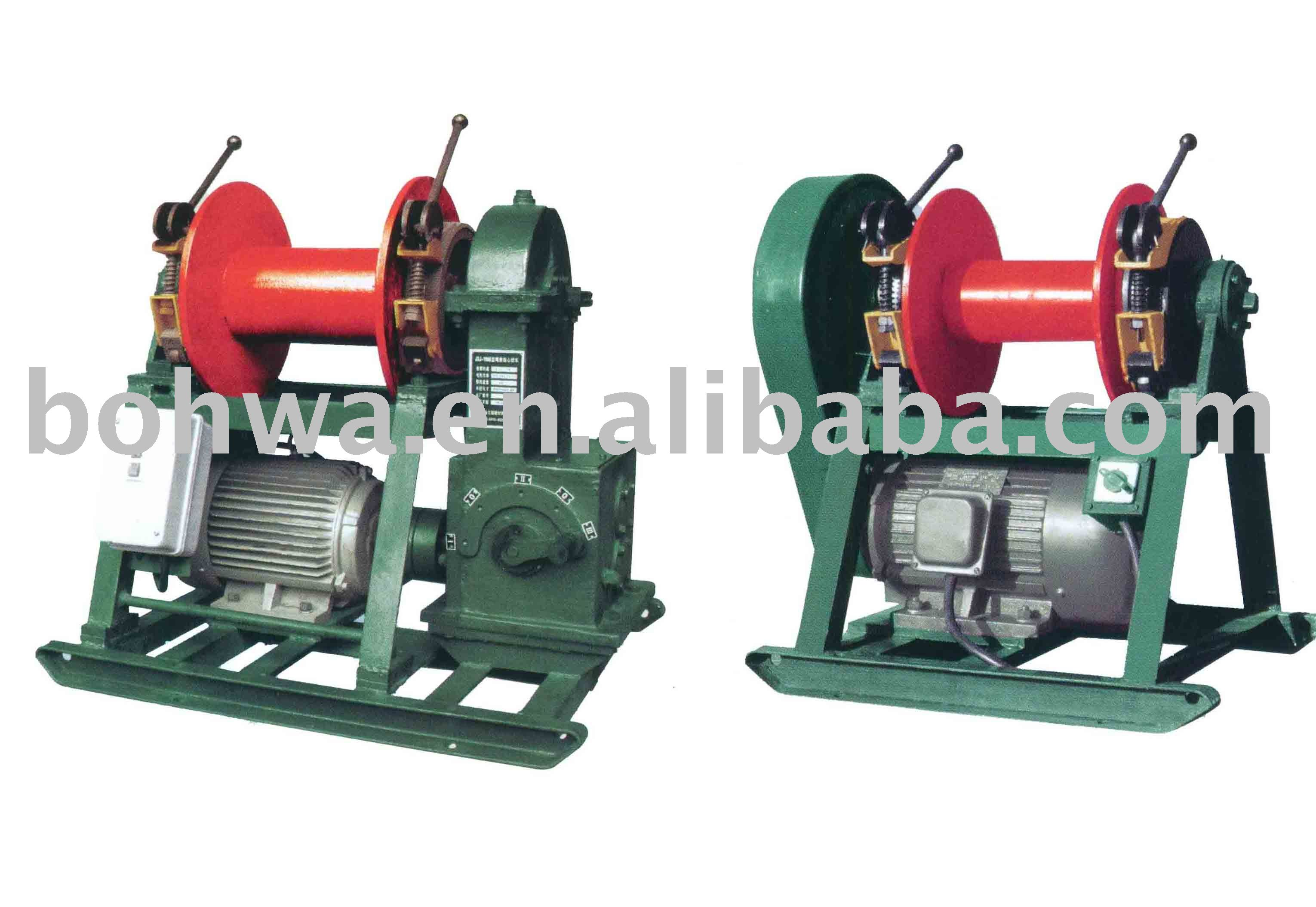 Electrical or diesel driven wireline core drilling winch with cable guider