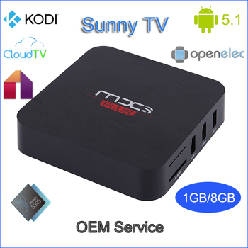 Factory Price amlogic s905 openelec android 5.1 ott tv box G5B bluetooth 1gb / 8gb KODI s905 smart tv box better than MX Plus