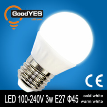 The Latest Ultra bright Mini LED Ceramics Globe Bulb lamp 3W E27 110-230V [GY-TQK7-301]