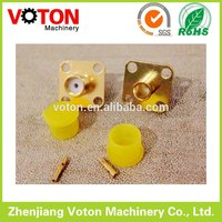 TOP Quality SMA Jack 4 holes flange panel for RG402 copper RF connector