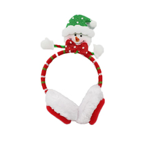 Smiling snowman Fabric headband party decoration christmas earflaps