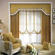 Luxury curtains with double opening Turkish Luxury Blackout fabric curtain