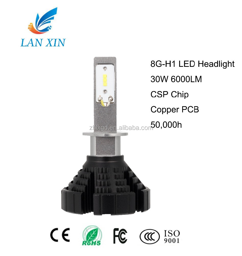 Shaped beam and clear boundary H1 4000K 5000K LED 6000K