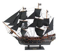 """Black Pearl"" Pirate ship Model,Wooden Sailing boat,Historial sailboat Souvenir,Navy,Nautical,Promotional gift,Home Decor"