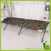 Used Military Fabric Material Bed On Surface