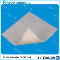 Medical wound care products dressing sliver ion calcium alginate dressing with ce fda