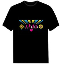 LED sound activated flashing music T-shirts/EL T-Shirt
