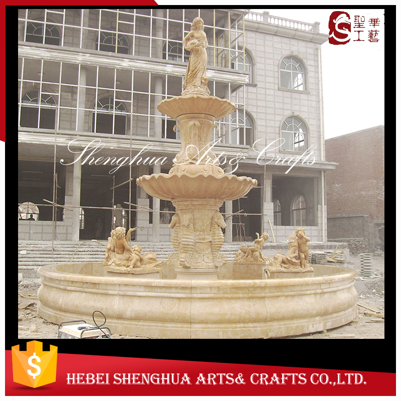 Natural marble Large Outdoor stone Garden Fountain