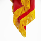Wholesale products national hand flag with golden rayon tassel fringe