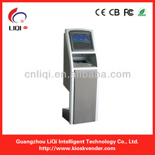 Plastic card dispense kiosk with cash&coin payment