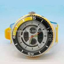 Novelty Multi-functional waterproof digital sport silicone wristband watch