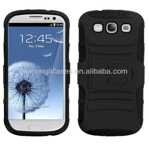 Best selling superior quality clip flip stand case for samsung galaxy s3 i9300