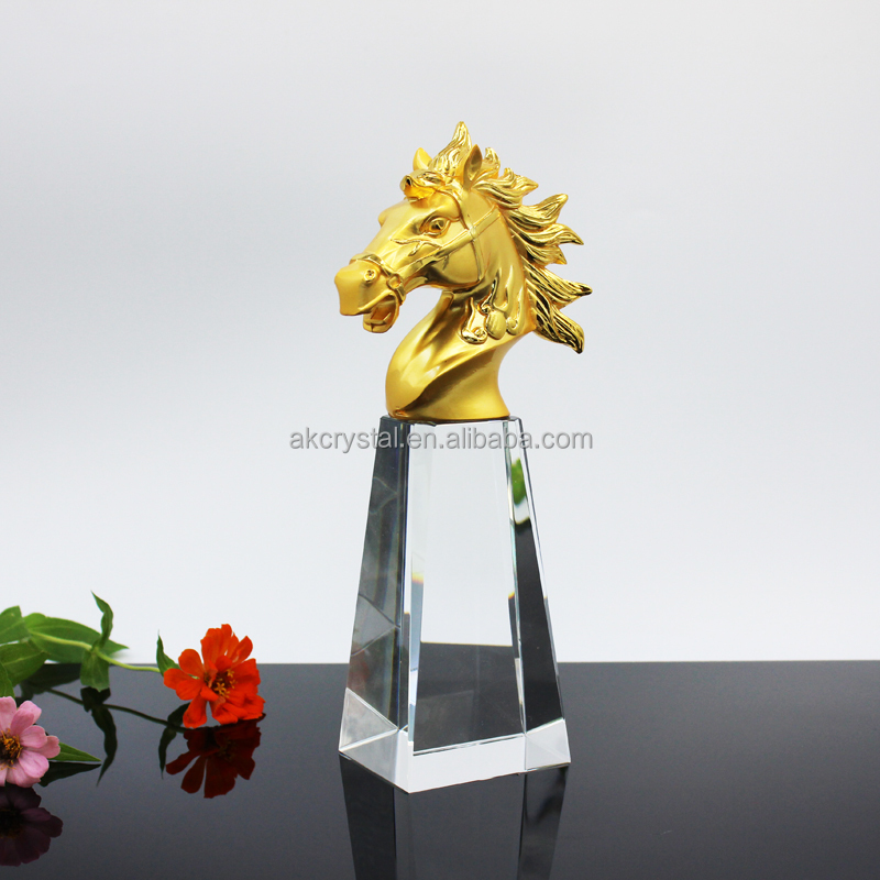 New design k9 crystal and metal awards and trophies for souvenir
