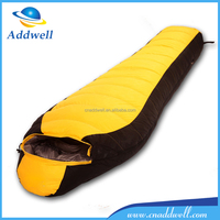 Outdoor backpacking goose down mummy adult winter sleeping bag