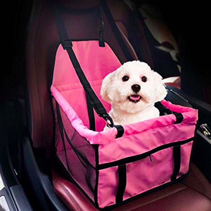Portable Luxury Pet Car Seat,Folding Pet Cat Puppy Safe Travel Seat pet Carrier Bag Dog Seat Cover for Cars with Safety Leashes