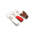 Leather Custom Logo USB Flash Drive With Keyring 8GB Pendrive Gift Box