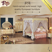 luxury french style bedroom furniture set- French antique furniture