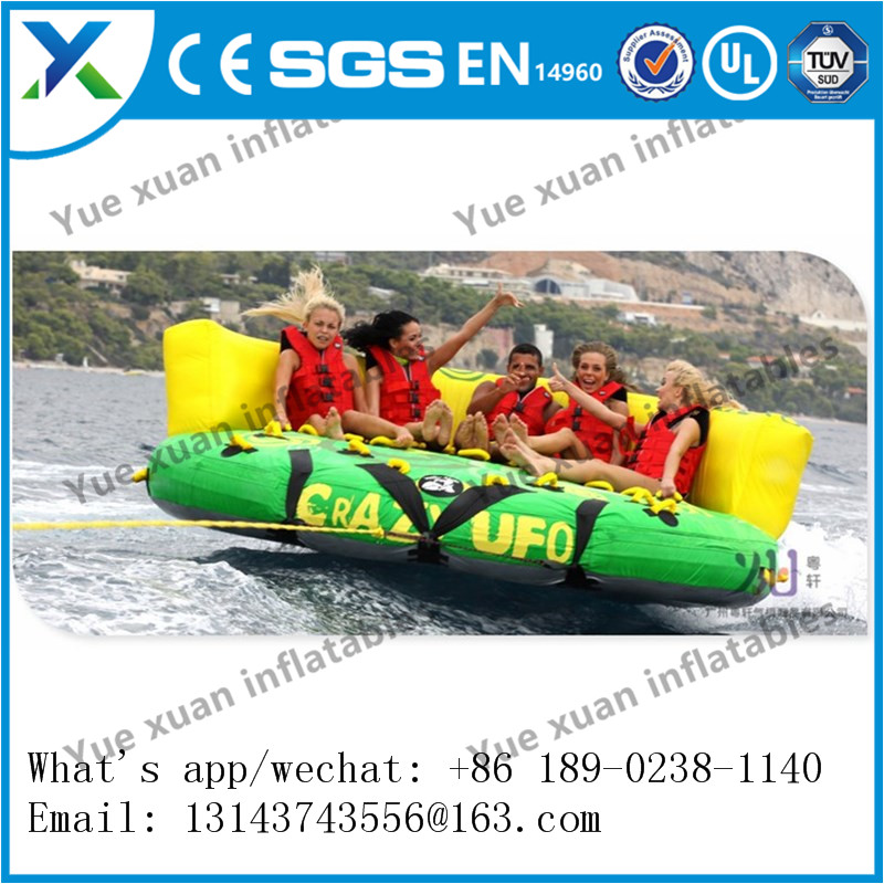 High quality towable inflatable water tube/inflatable fly fish/water play equipment for sell