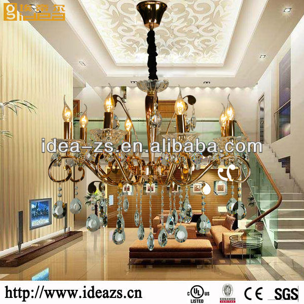 crystal aqua light dragon chandelier lamp lighted fabric columns