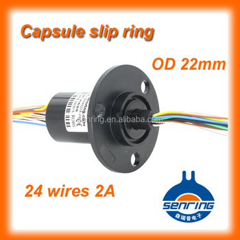 Slip ring connector 24 wires 2A with OD 22mm