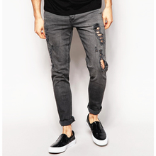 jeans dry process Distressed denim man jeans men washed jeans