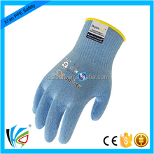 Industrial antibacterial treatment comfortable cut resistant working hand protection pvc coating safety gloves