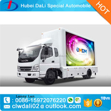 Foton LED Display Outdoor Mobile Car led screen truck led mobile advertisement truck for sale