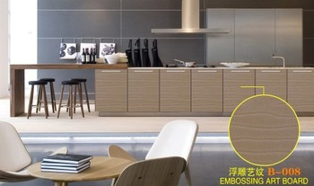wholesale textured mdf board for kitchen cabinet made in china