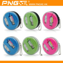PNGXE high quality novel design colorful led micro usb cable for iphone6 usb charger cable