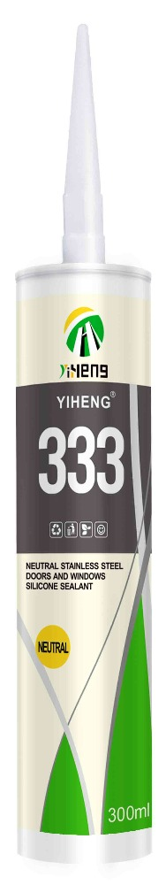 YIHENG 333 NEUTRAL STAINLESS STEEL DOORS AND WINDOWS SILICONE SEALANT(SILVER)