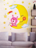 Wholesale moon star glow in the dark removable for kids DIY wall stickers