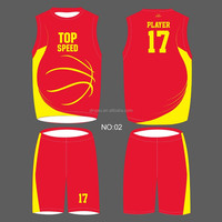cheap Sublimation custom reversible basketball wear for basketball team wear
