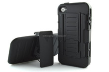 Hard cover armor case for iphone 4 future armor impact case with belt clip