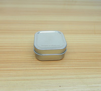 Rounded Square Shallow Mint Tin Can Box