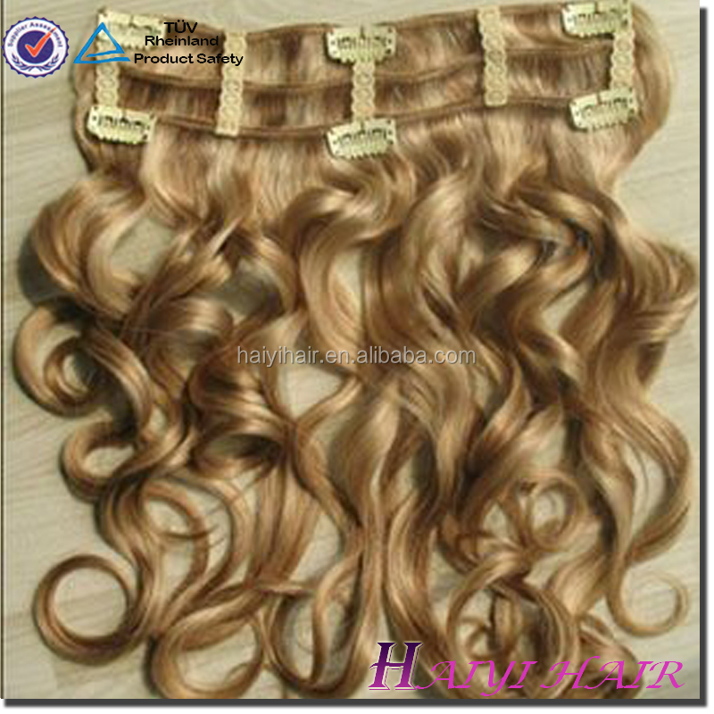Top quality hair extensions double weft natural way Wholesale white women clip hair extensions