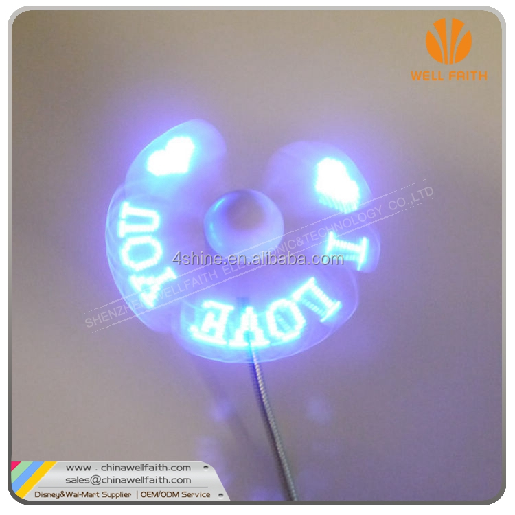 2016 Summer New item Led Flashing Fan for Gifts and novelty