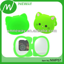 Cat Design Portable Travel Make Up Small Mirror