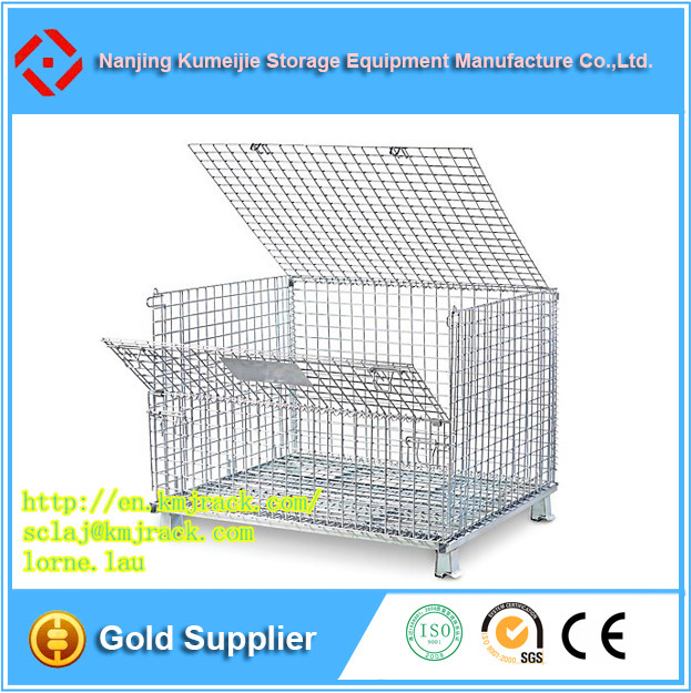 Steel Welded Collapsible Wire Mesh Storage Cage