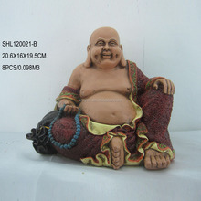 Silicone mold make resin laughing buddha statue