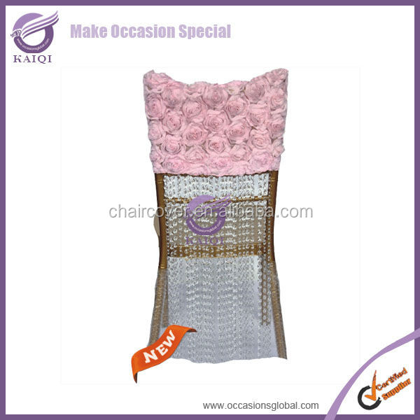 D782 18813 fabric wedding wholesale chair head covers for sale