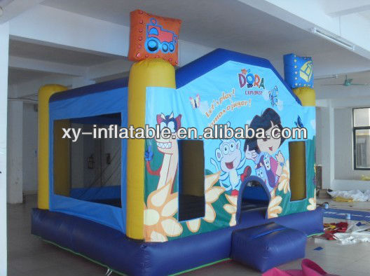 2016 dora inflatable toy for kids, new design dora bouncy castle